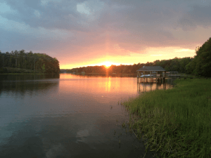 sunset 300x225 - 8 Benefits Of A Waterfront Home In Chesterfield