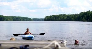 Kids kayaking 300x161 - 8 Benefits Of A Waterfront Home In Chesterfield