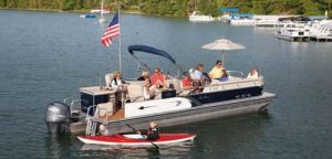 pontoon boat 300x144 - The Benefits Of A Lake Chesdin Home